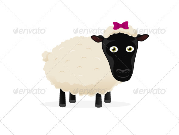 Graphic River Cartoon Sheep Vectors -  Characters  Animals 941067