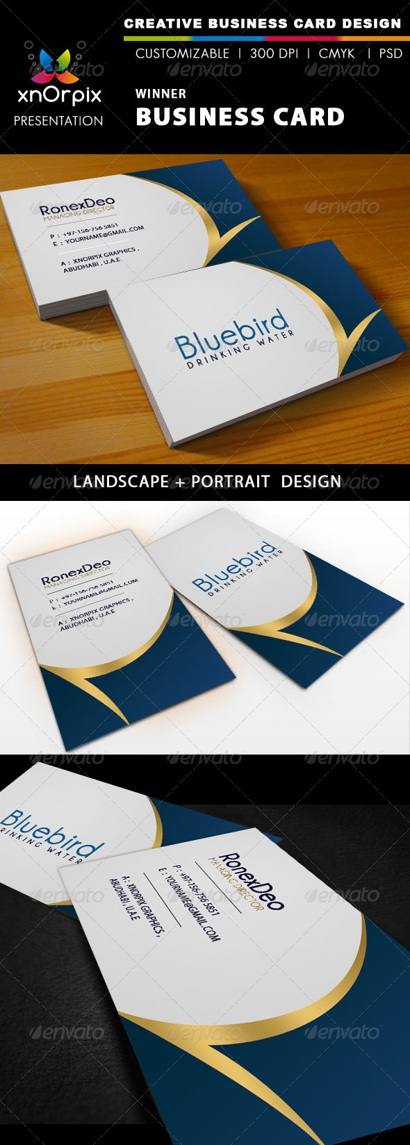 Graphic River Winner Business Card Print Templates -  Business Cards  Corporate 941078