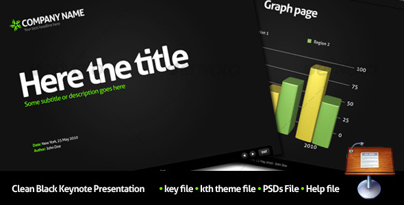 GraphicRiver Clean Black Keynote Presentation 106655