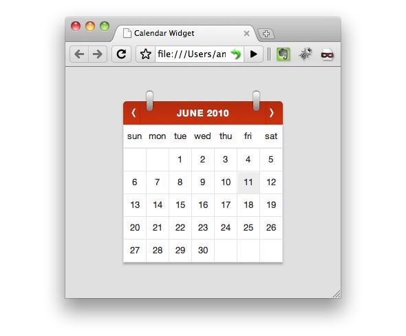 TutsPlus How to Build a Beautiful Calendar Widget 118800