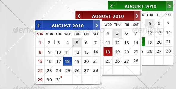 GraphicRiver Calendar 118856