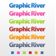 6 colors web 2.0 photoshop text styles - GraphicRiver Item for Sale