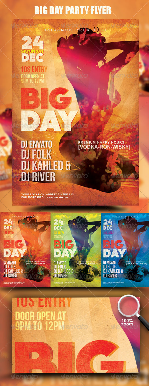 GraphicRiver Big Day Party Flyer 942886