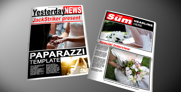 After Effects Project - VideoHive Paparazzi Tabloid Newspaper 118929