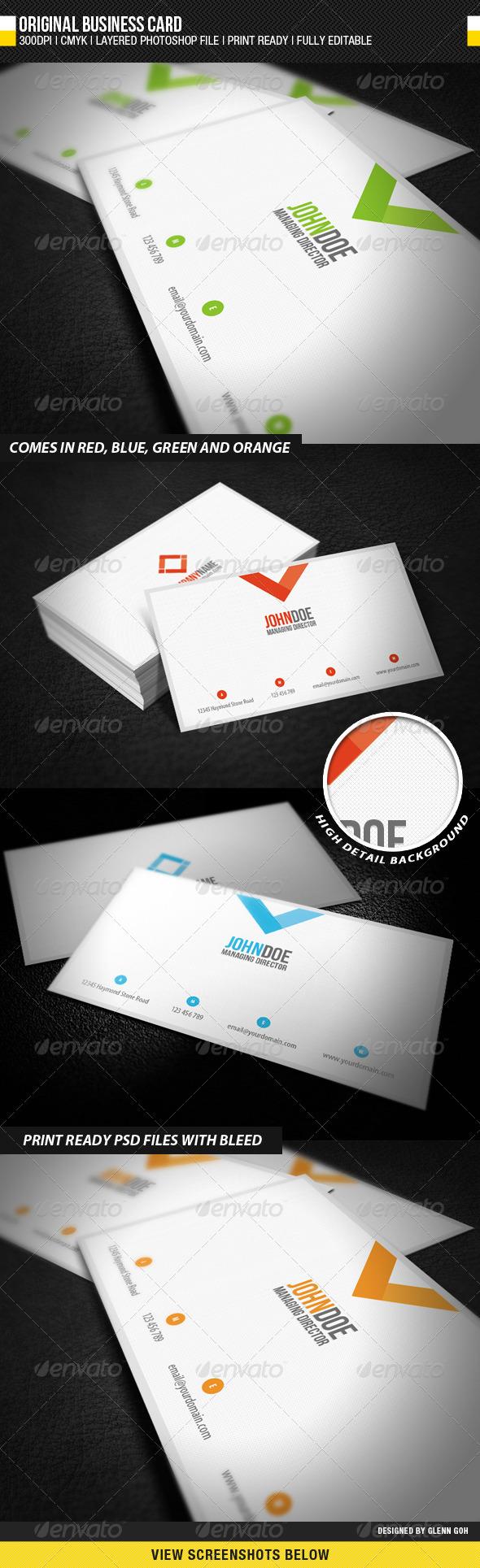 GraphicRiver Original Business Card 943814