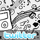 Stylish Doodles Twitter Background - GraphicRiver Item for Sale