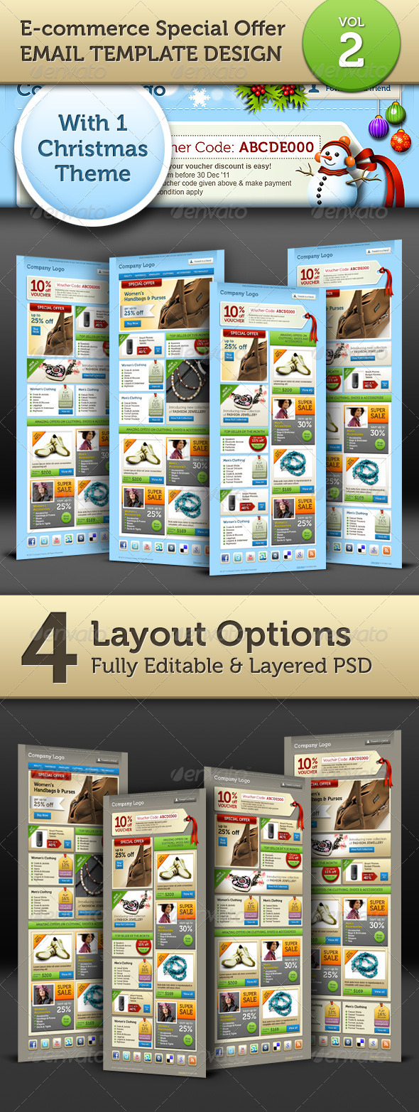 GraphicRiver E-commerce Offers Email Template Design Vol.2 949381