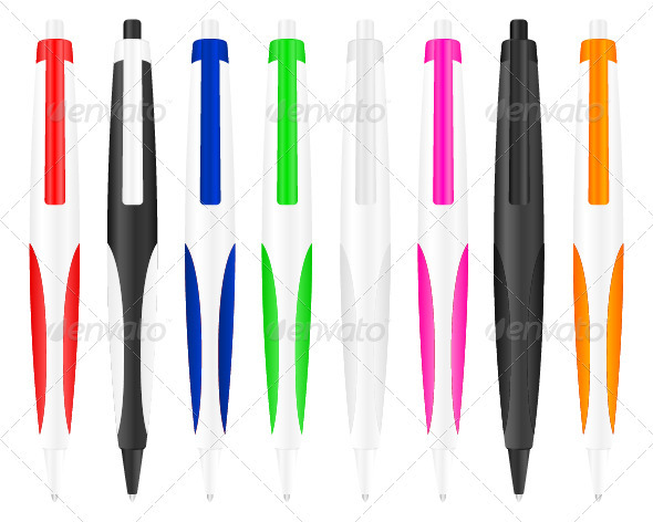 Graphic River Ballpoint Pen Vectors -  Objects 942771