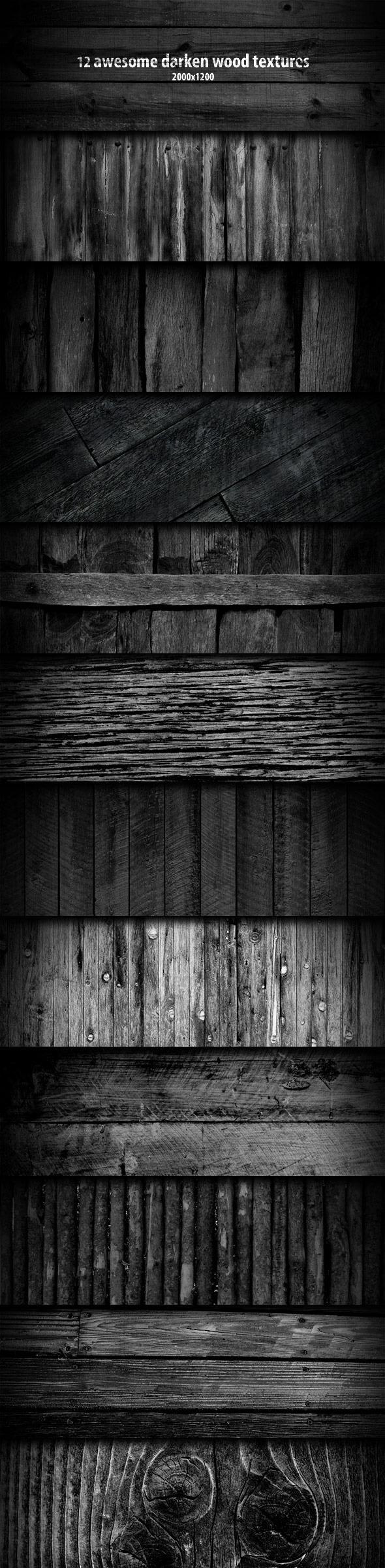 GraphicRiver 12 Darken Wood Textures 119709