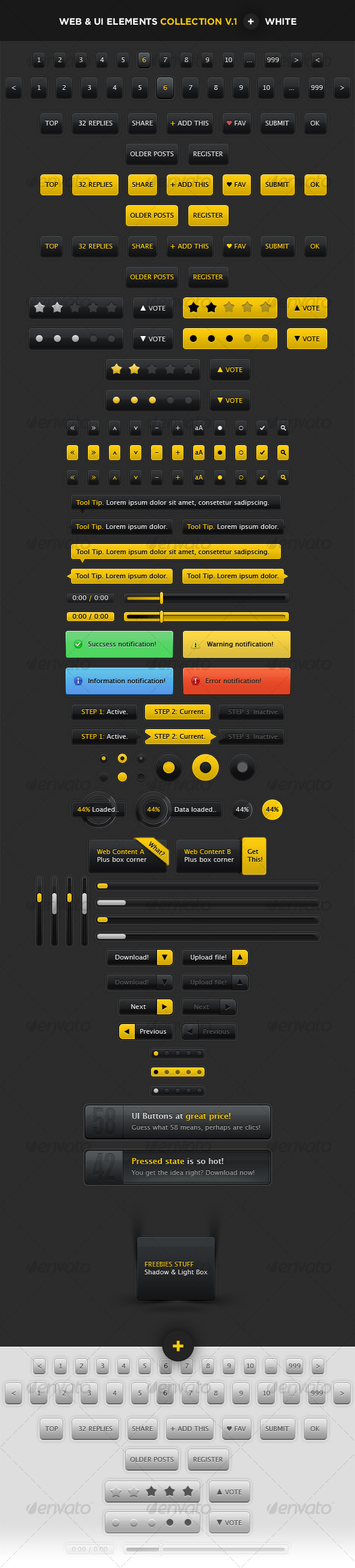 GraphicRiver User Interface Elements Web & Blogs 113135