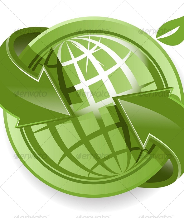GraphicRiver Globe and Green Arrows 120266