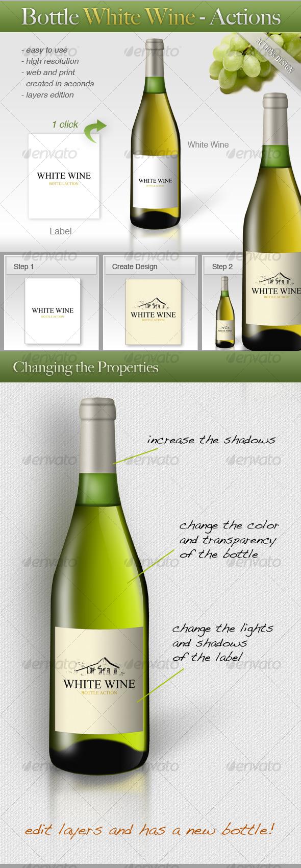 GraphicRiver Bottle White Wine 120372