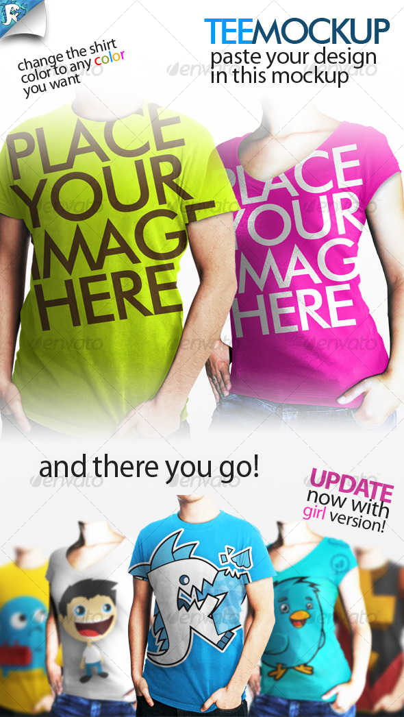 GraphicRiver Tee Mockup Your clothing 118676