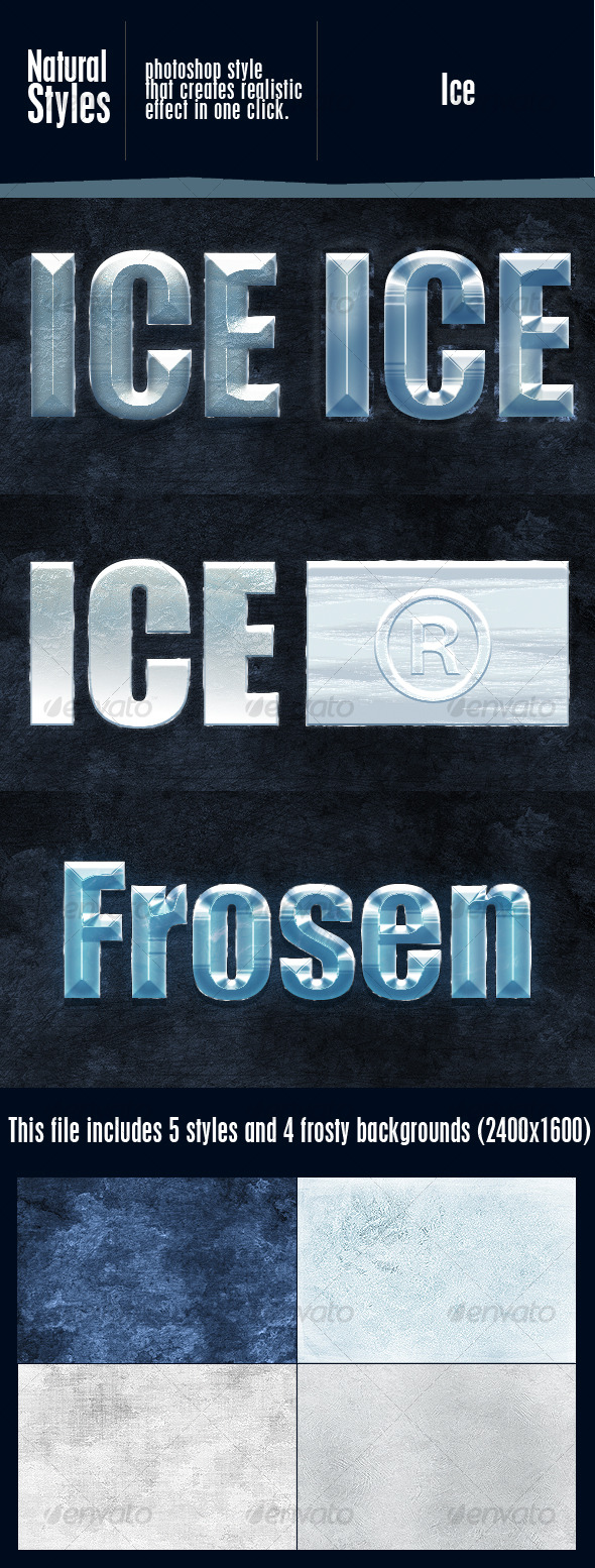 GraphicRiver Ice Effect Styles 120513
