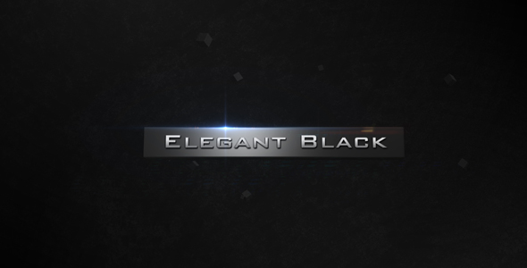 After Effects Project - VideoHive Elegant Black 120982