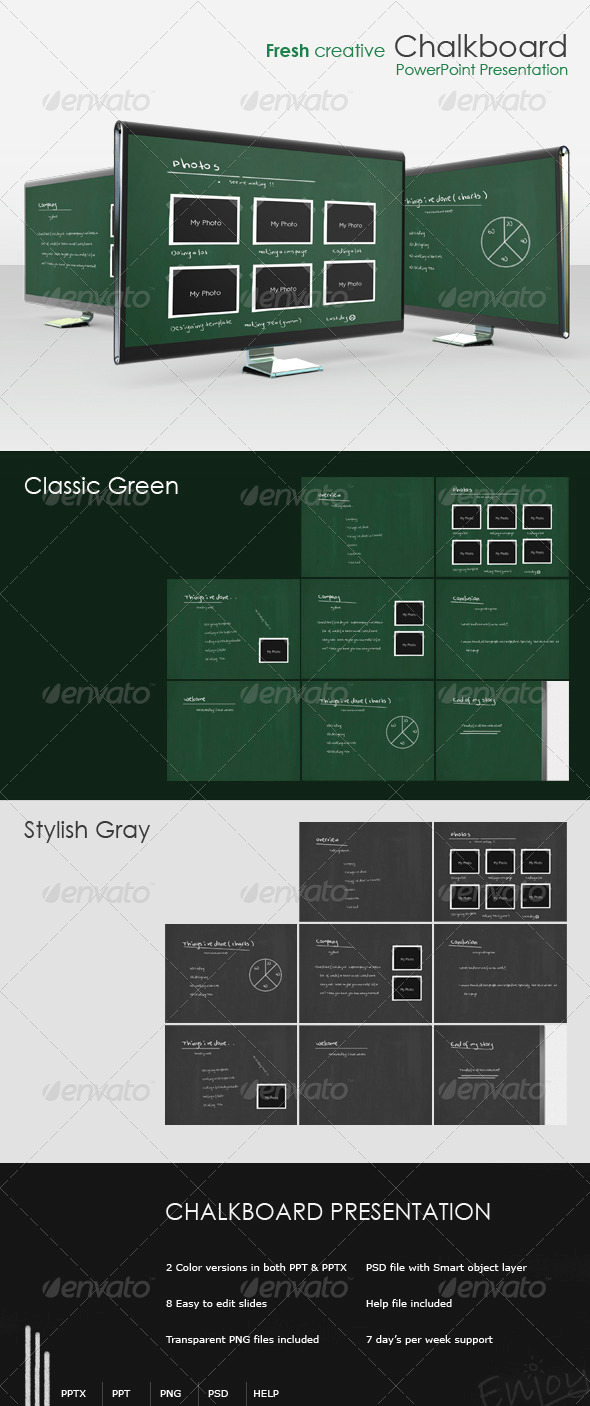 GraphicRiver Fresh creative Chalkboard presentation 106253