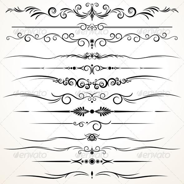 GraphicRiver Ornamental Rule Lines 964963