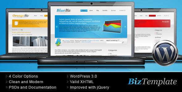 ThemeForest Biz Template Business Wordpress Theme 68188