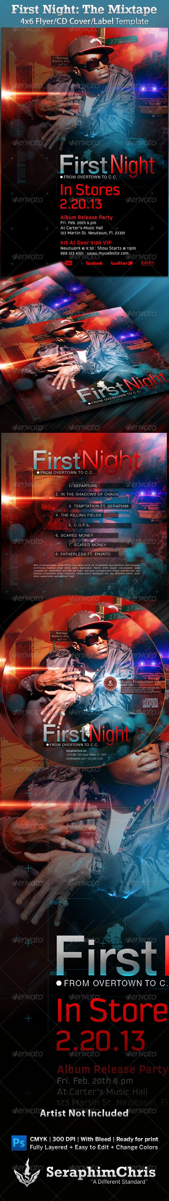 GraphicRiver Mixtape Album Flyer First Night 967262