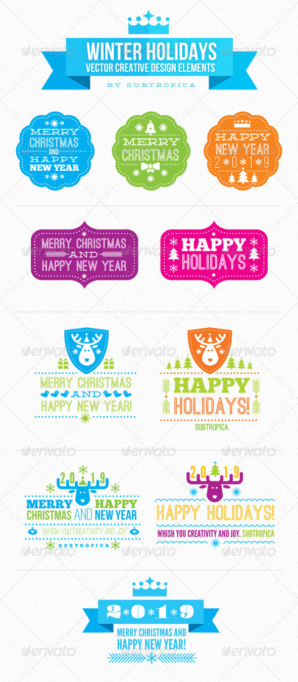 GraphicRiver Winter Holidays Vector Creative Design Elements 967783