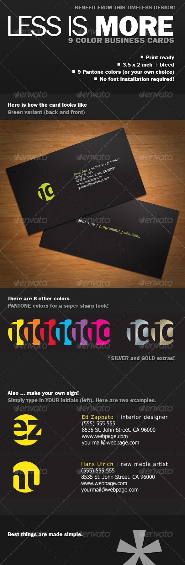GraphicRiver Less Is More Business Card 120042
