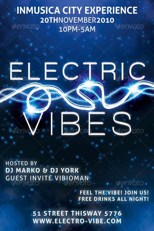 GraphicRiver Electric Vibes Music Flyer 122119