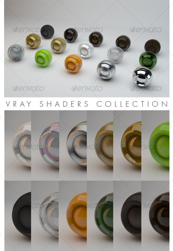 3DOcean Vray Shaders Collection 122134
