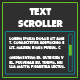 Text Scroller - ActiveDen Item for Sale