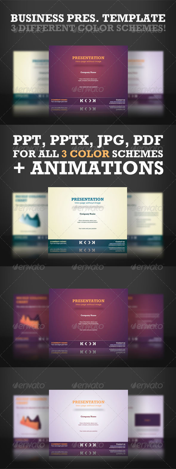 GraphicRiver Colorful Powerpoint Templates 976279