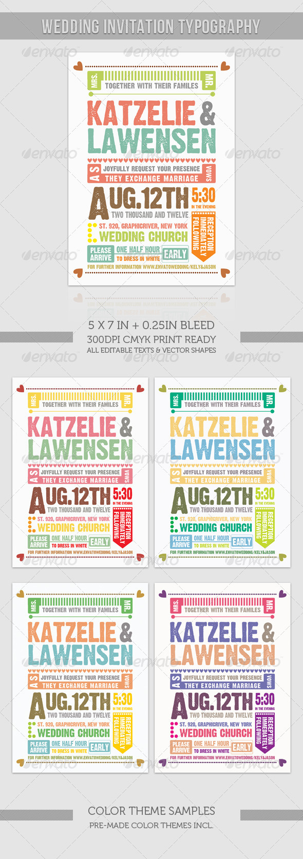 GraphicRiver Wedding Invitation Typography 976783