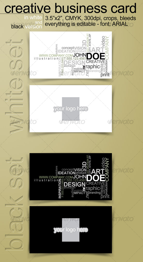 GraphicRiver Creative Business Card in 2 versions Editable 122515