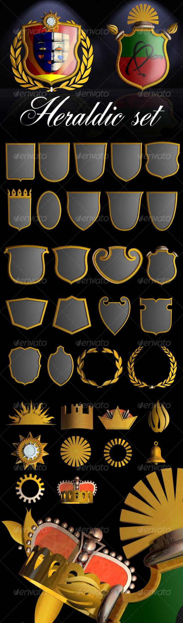 GraphicRiver Heraldic Set I 122891