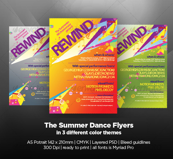 GraphicRiver The Summer Dance Flyers 122930