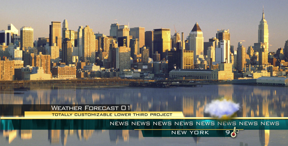 After Effects Project - VideoHive WEATHER FORECAST 01 lower third 122985