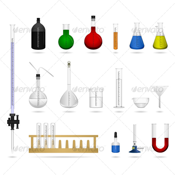 GraphicRiver Science Chemical Lab Laboratory Equipment Vector 123074