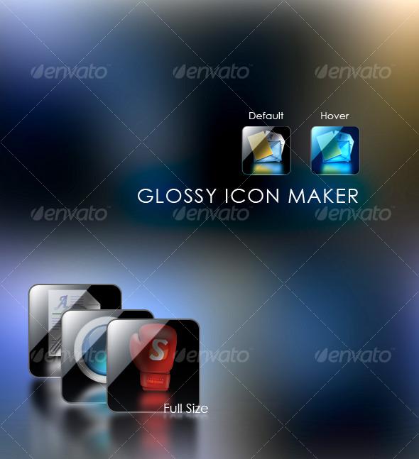 GraphicRiver Glossy Icon Maker 123259