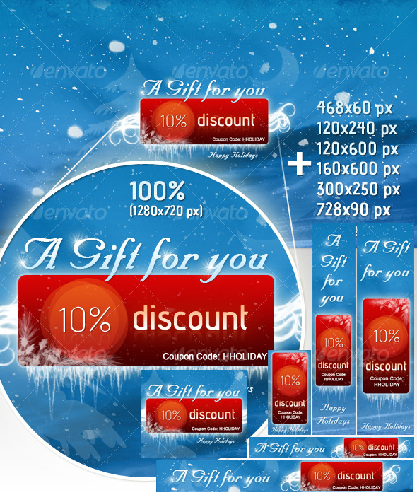 GraphicRiver Holiday Christmas Marketing Banners 123514
