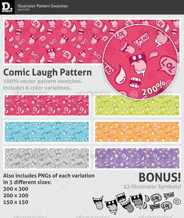 GraphicRiver Comic Laugh Pattern 123730
