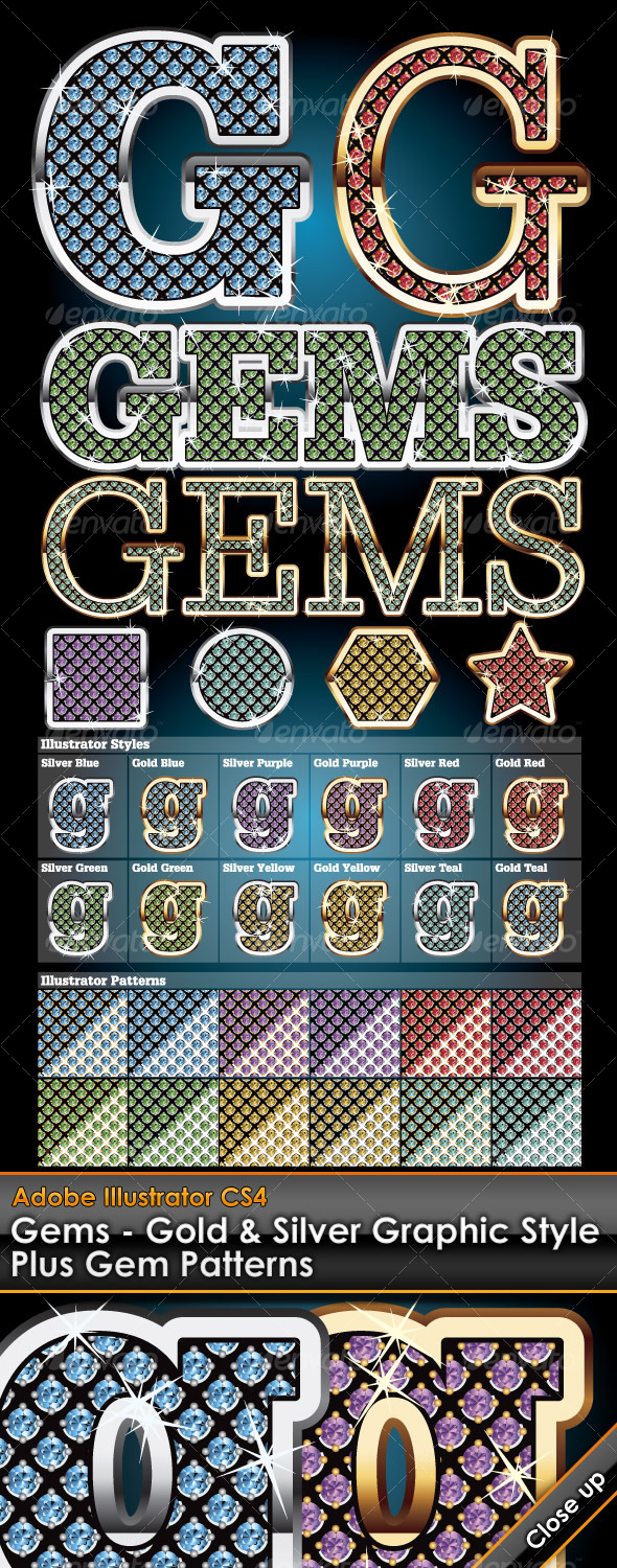 GraphicRiver Gems Illustrator Graphic Styles 123753