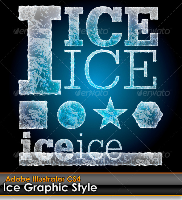 GraphicRiver Ice Illustrator Graphic Style 122111