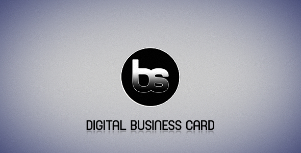 After Effects Project - VideoHive Digital Business Card 124007