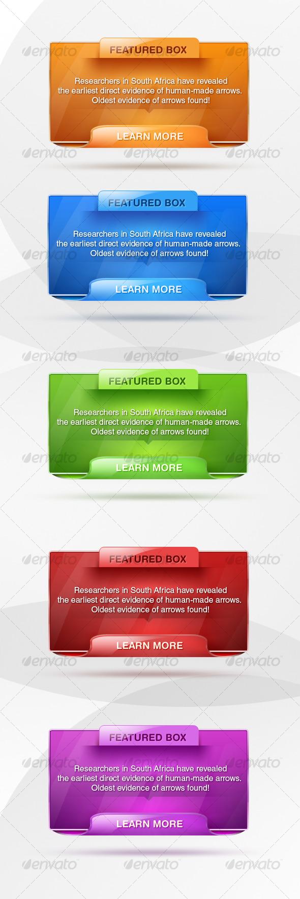 GraphicRiver Modern web boxes 124203