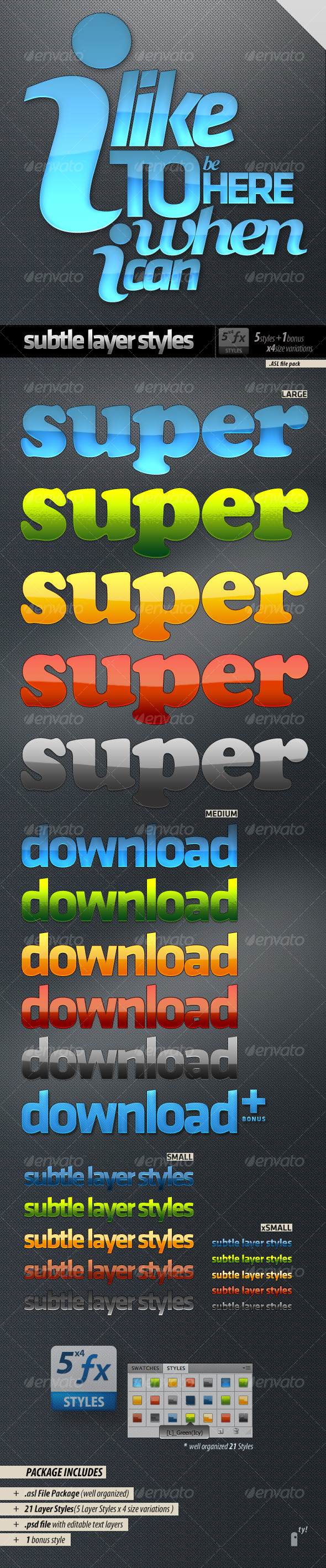 GraphicRiver Solemn Layer Styles 124214