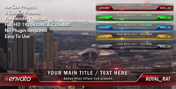 After Effects Project - VideoHive Lower Third Optical 124234