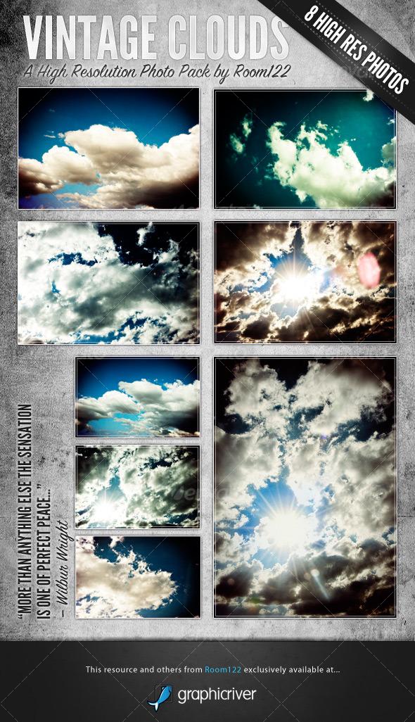 GraphicRiver Vintage Clouds 124409