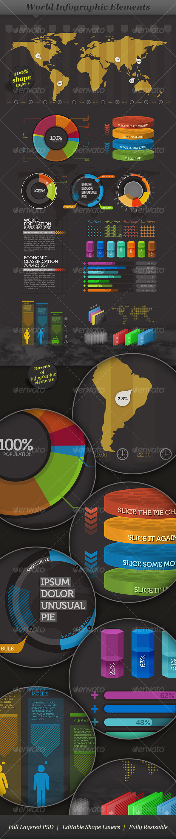 GraphicRiver World Infographic Elements Visual Information 124461