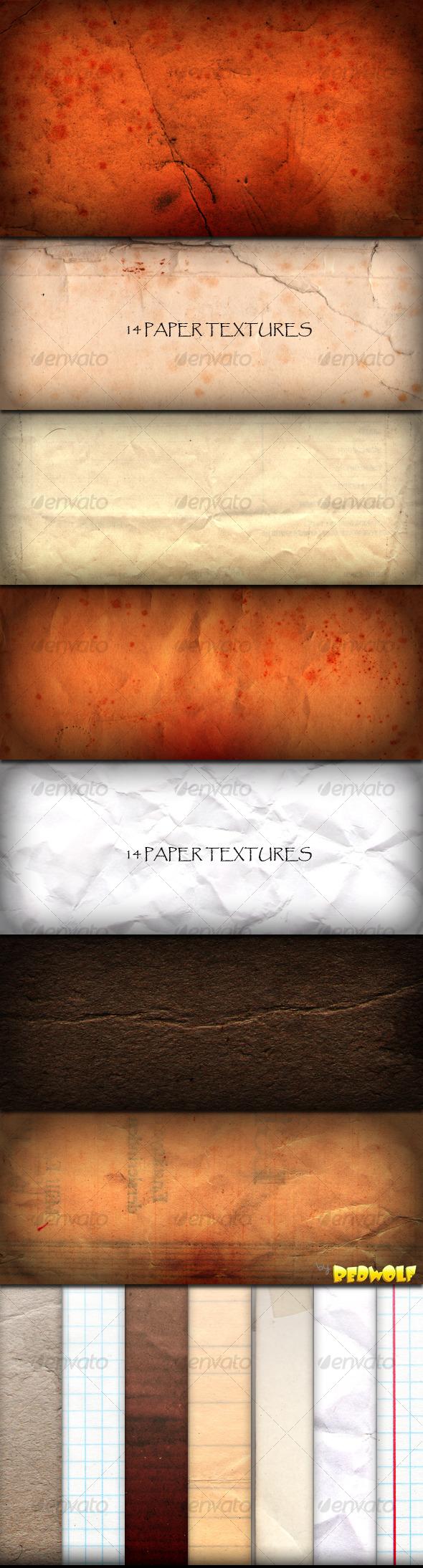 GraphicRiver Paper Textures 124493