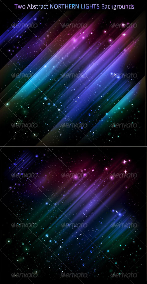 GraphicRiver Abstract backgrounds vector Northern lights 124678