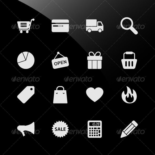 GraphicRiver Ecommerce Shopping Web Icons 124732