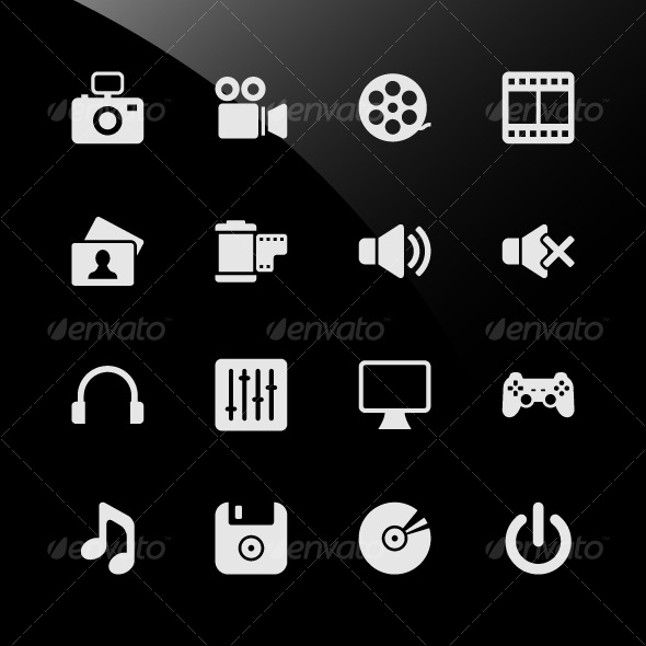 GraphicRiver Multimedia Web Icons 124746